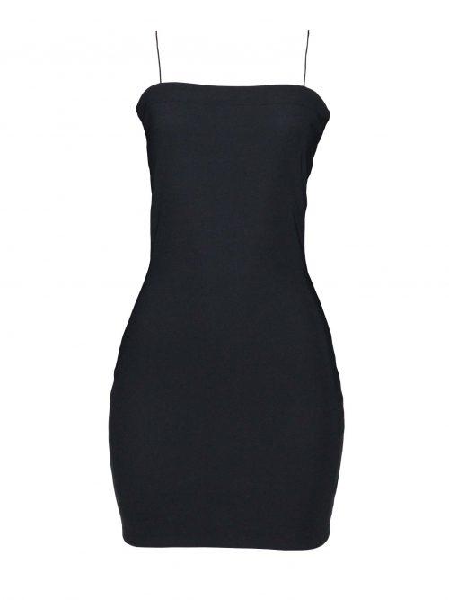 Vestido Decote Reto Preto