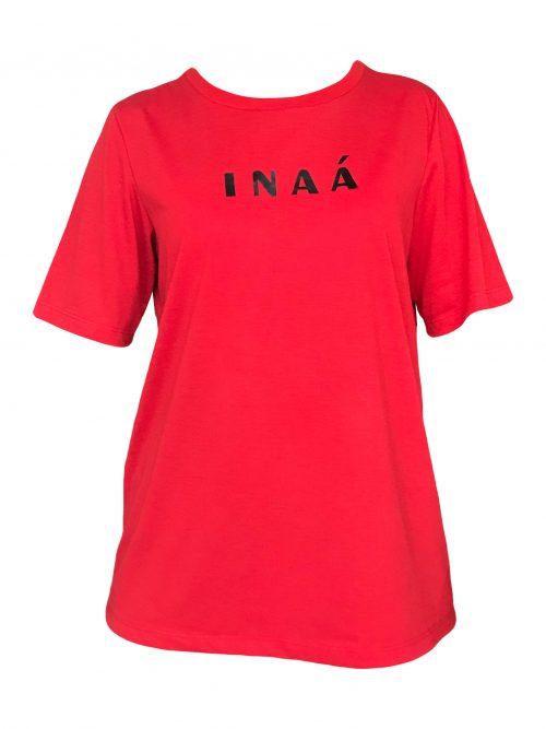 camiseta vermelha logo inaa